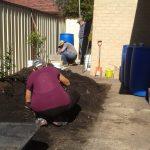 Michele planting keyhole area