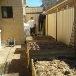 Beds composted & mulched
