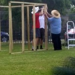 Frame goes up