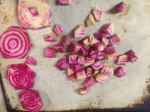 Chioggia Striped beetroot - diced